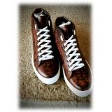 Jovanny Capri - Stivaletti Sneakers - Effetto Patina - Handmade in Italy - Scarpe in Pelle - Alta Qualità Luxury