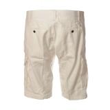 C.P. Company - Bermuda in Gabardina con Tasconi - Bianco - Pantaloni - Luxury Exclusive Collection