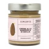 Vincente Delicacies - Crema alla Mandorla d'Avola di Sicilia - Creme Spalmabili Artigianali - 180 g