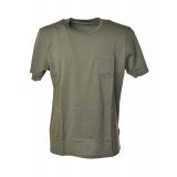 C.P. Company - T-Shirt Basica con Tasca Anteriore - Verde - Luxury Exclusive Collection