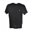 C.P. Company - T-Shirt Basica con Scritta Piccola - Nero - Luxury Exclusive Collection