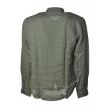 C.P. Company - Camicia con Collo alla Coreana - Verde - Luxury Exclusive Collection