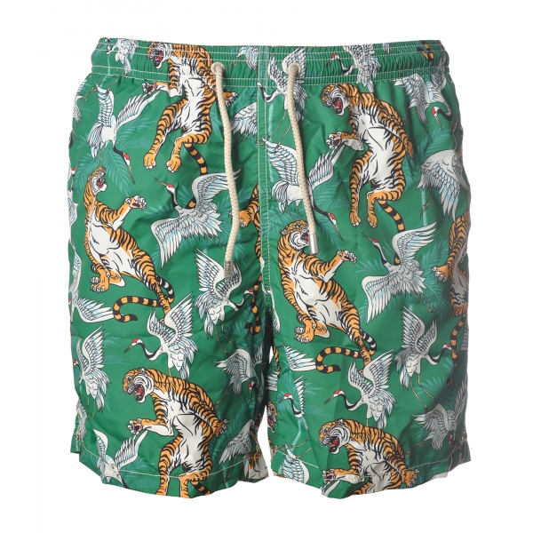MC2 Saint Barth - Swimsuit Lighting Bengal 51 - Green Pattern - Luxury Exclusive Collection