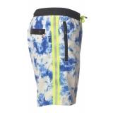 MC2 Saint Barth - Costume Lighting Submarinet Tie Dye 0117 - Bianco/Azzurro - Luxury Exclusive Collection