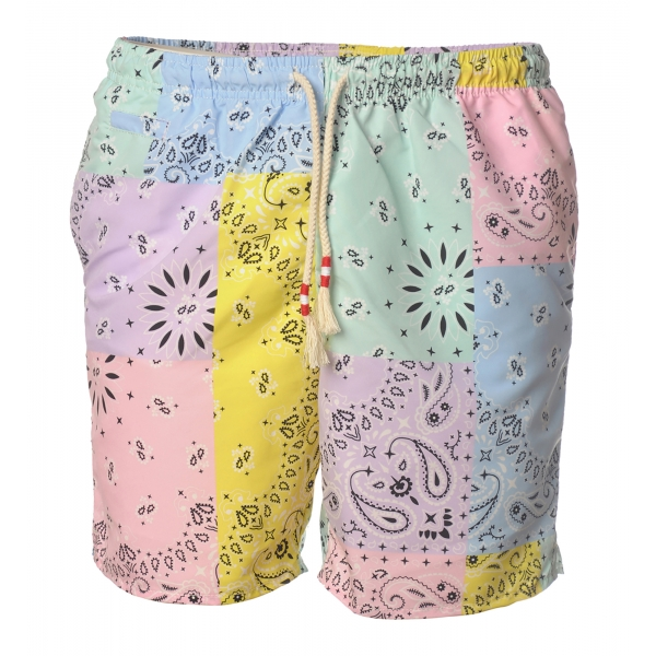 MC2 Saint Barth - Swimsuit Caprese Bandanna Round Color - Multicolor Pattern - Luxury Exclusive Collection