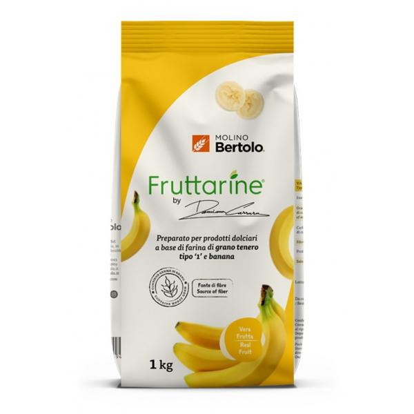Molino Bertolo - Farina Tipo 1 alla Banana - Made With Fruit - Farina di Grano Tenero Tipo 1 con Fiocchi di Banana - 1 Kg