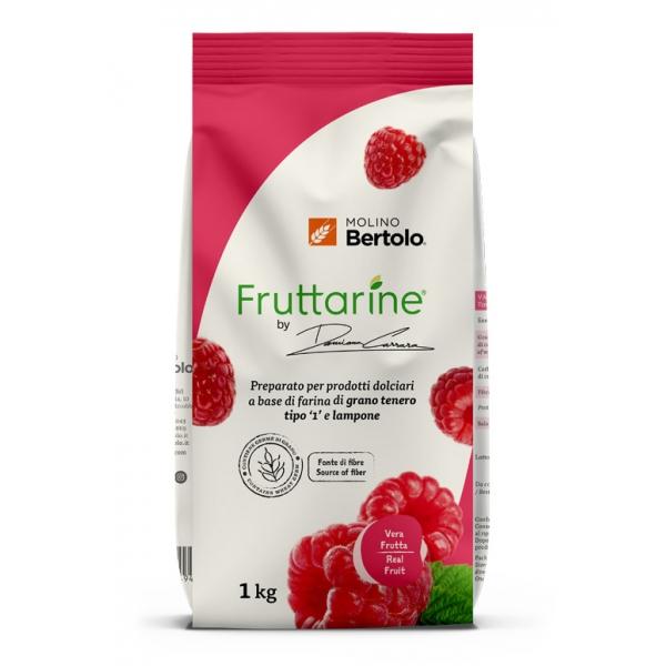 Molino Bertolo - Raspberry Type 1 Flour - Made With Fruit - Type 1 Soft Wheat Flour with Raspberry Flakes - 1 Kg