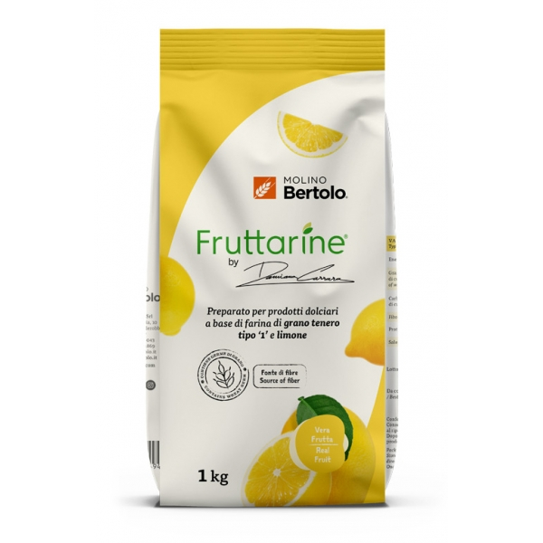 Molino Bertolo - Lemon Type 1 Flour - Made With Fruit - Type 1 Soft Wheat Flour with Lemon Flakes - 1 Kg