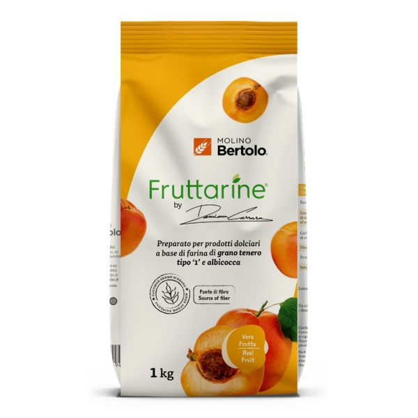 Molino Bertolo - Apricot Type 1 Flour - Made With Fruit - Type 1 Soft Wheat Flour with Apricot Flakes - 1 Kg