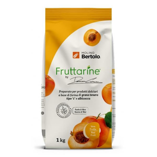 Molino Bertolo - Farina Tipo 1 all'Albicocca - Made With Fruit - Farina di Grano Tenero Tipo 1 con Fiocchi di Albicocca - 1 Kg