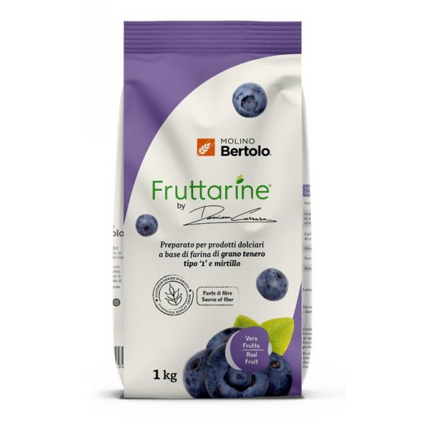 Molino Bertolo - Blueberry Type 1 Flour - Made With Fruit - Type 1 Soft Wheat Flour with Blueberry Flakes - 1 Kg