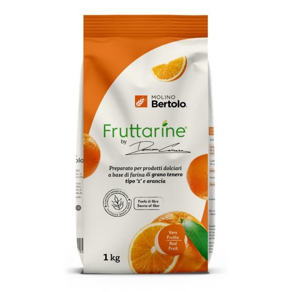 Molino Bertolo - Orange Type 1 Flour - Made With Fruit - Type 1 Soft Wheat Flour with Orange Flakes - 1 Kg