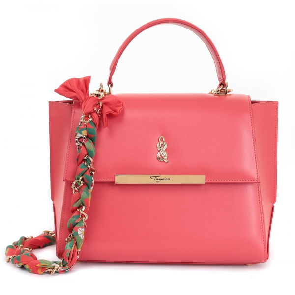 Maison Fagiano - Calf Leather - Rose Coral - Artisan Bag - The New City Exclusive Collection - Luxury - Handmade in Italy