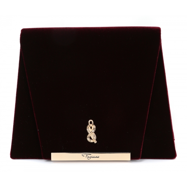 Maison Fagiano - Velvet - Bordeaux - Artisan Bag - New Evening Exclusive Collection - Luxury - Handmade in Italy