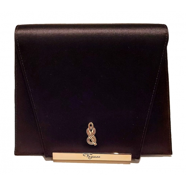 Maison Fagiano - Silk - Black - Artisan Bag - New Evening Exclusive Collection - Luxury - Handmade in Italy