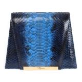 Maison Fagiano - Pitone - Blu Degradé - Borsa Artigianale - New Evening Collection - Luxury - Handmade in Italy