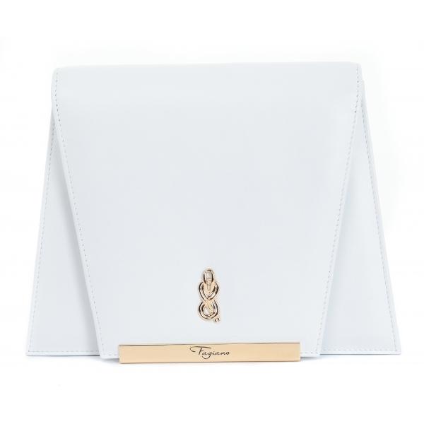 Maison Fagiano - Pelle di Vitello - Bianco Ottico - Borsa Artigianale - New Evening Collection - Luxury - Handmade in Italy