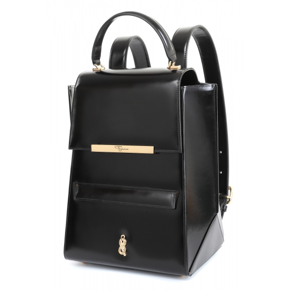 Maison Fagiano - Box Calf - Black - Artisan Backpack Bag - The New Sport Exclusive Collection - Luxury - Handmade in Italy