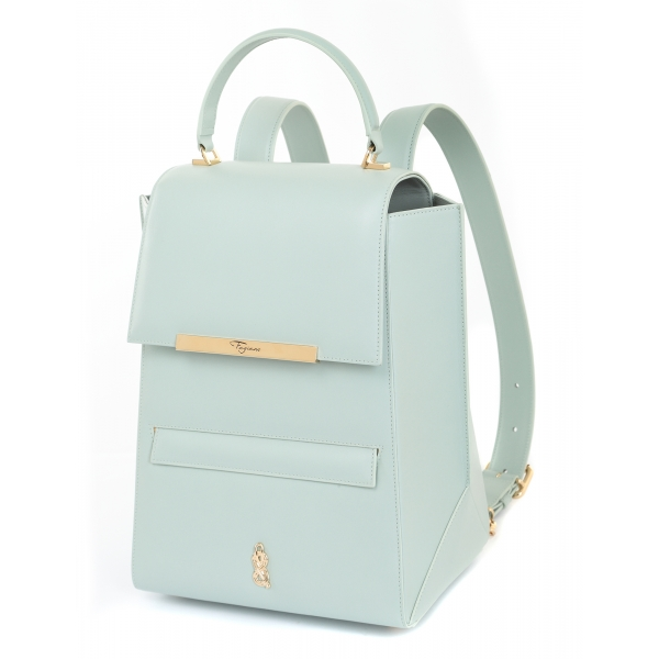 Maison Fagiano - Calf Leather - Mint - Artisan Backpack Bag - New Sport Exclusive Collection - Luxury - Handmade in Italy