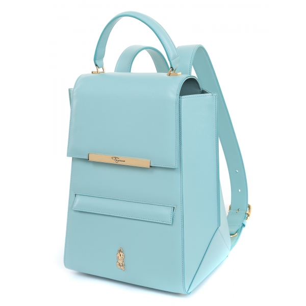 Maison Fagiano - Calf Leather - Opal - Artisan Backpack Bag - New Sport Exclusive Collection - Luxury - Handmade in Italy