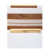Maison Fagiano - Deerskin Leather - Bianco Ottico - Borsa Artigianale - New Work Collection - Luxury - Handmade in Italy