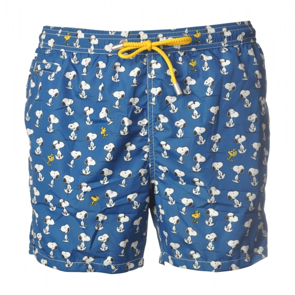MC2 Saint Barth - Boxer Swimsuit Snoopy - Blue Pattern - Luxury Exclusive Collection