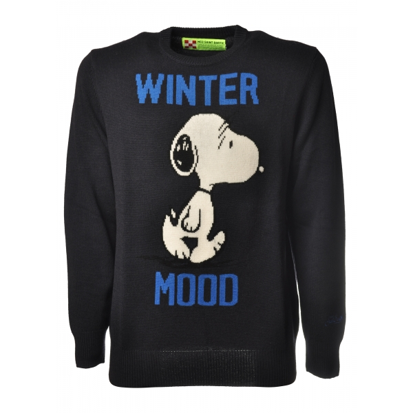 MC2 Saint Barth - Pullover Heron Snoopy - Blue - Luxury Exclusive Collection