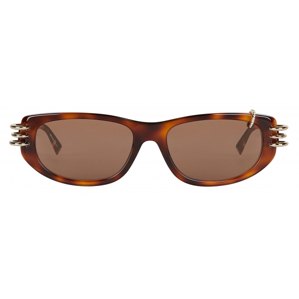 Givenchy - GV Piercing Unisex Sunglasses in Acetate - Brown - Sunglasses - Givenchy Eyewear