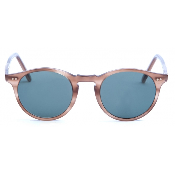 David Marc - ADAMO L93 - Brown White - Sunglasses - Handmade in Italy - David Marc Eyewear