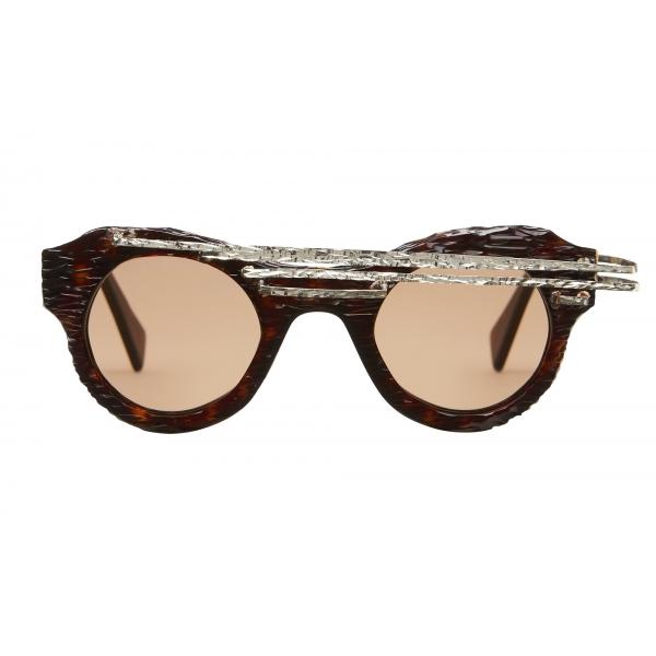 Kuboraum - Mask L1 - Tortoise - L1 TS AI - Artisanal Instinct - Sunglasses - Kuboraum Eyewear