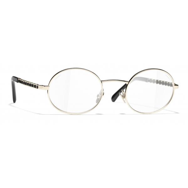 Chanel - Occhiali da Sole Ovali - Oro Trasparente - Chanel Eyewear