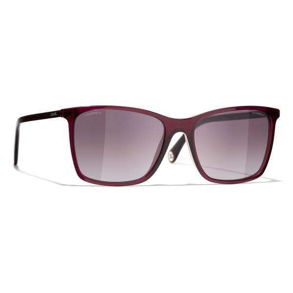 Chanel - Occhiali da Sole Quadrati - Rosso - Chanel Eyewear