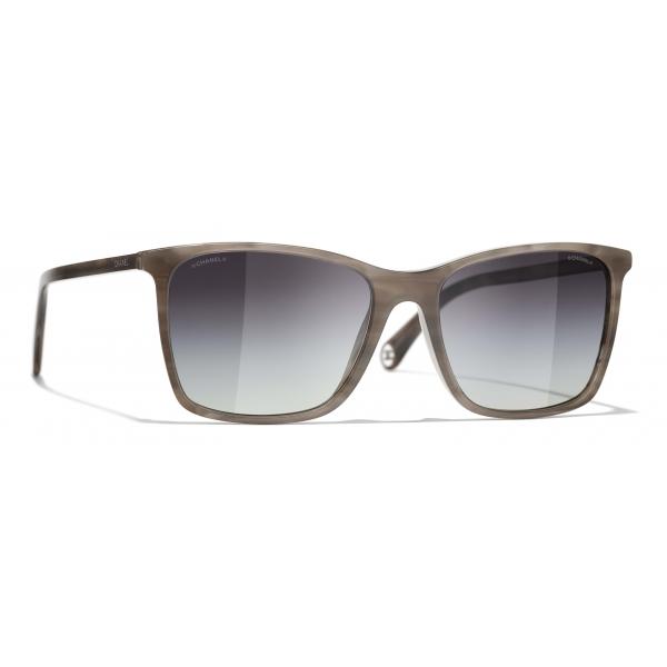 Chanel - Occhiali da Sole Quadrati - Grigio - Chanel Eyewear