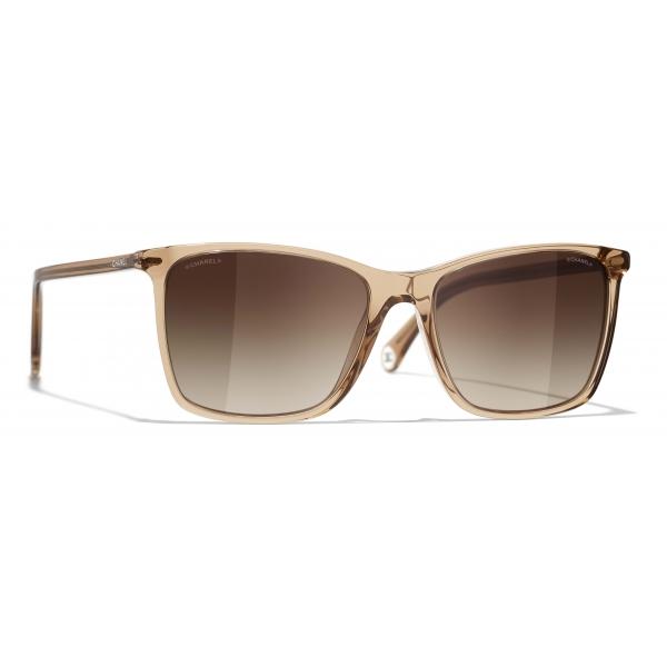Chanel - Occhiali da Sole Quadrati - Marrone - Chanel Eyewear