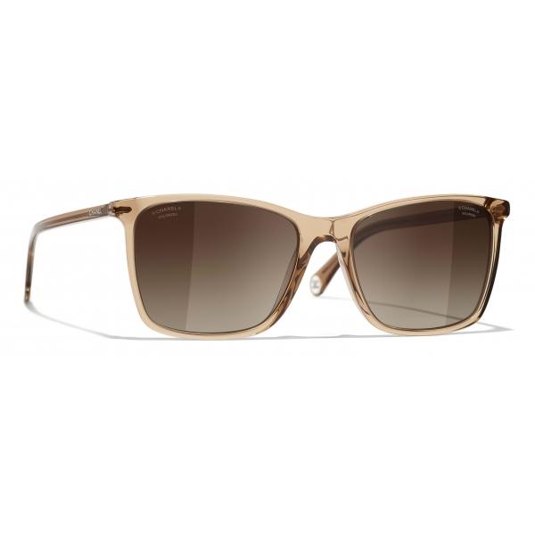 Chanel - Square Sunglasses - Brown - Chanel Eyewear