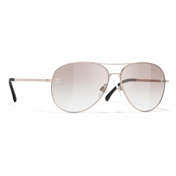 Chanel - Pilot Sunglasses - Pink Gold Beige - Chanel Eyewear