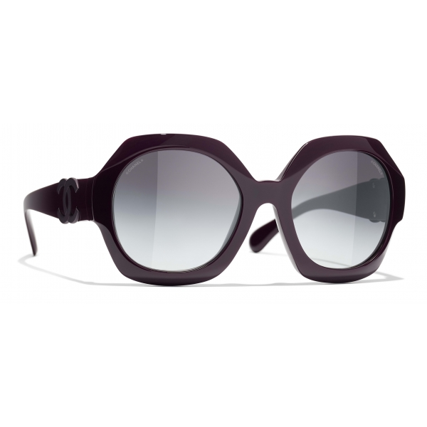 Chanel - Occhiali da Sole Rotondi - Viola Grigio - Chanel Eyewear