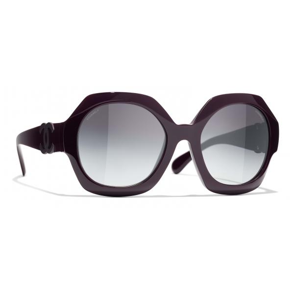Chanel - Round Sunglasses - Purple Gray - Chanel Eyewear