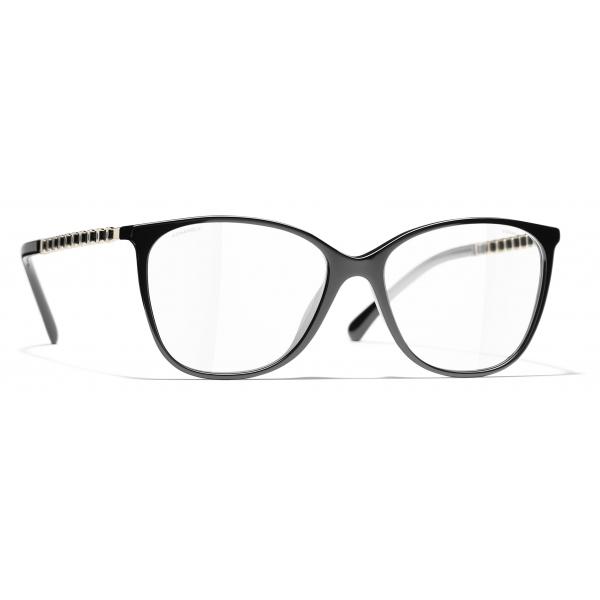 Chanel - Occhiali da Sole Quadrati - Nero Oro - Chanel Eyewear
