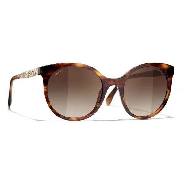 Chanel - Occhiali da Sole Pantos - Tartaruga Marrone - Chanel Eyewear