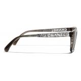 Chanel - Occhiali da Sole Rettangolari - Grigio - Chanel Eyewear