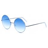 David Marc - GIORGIA SILVER BLU GRAD - Sunglasses - Handmade in Italy - David Marc Eyewear