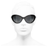 Chanel - Cat-Eye Sunglasses - Black Gray - Chanel Eyewear