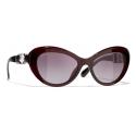 Chanel - Occhiali da Sole Cat-Eye - Rosso Scuro - Chanel Eyewear