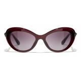 Chanel - Cat-Eye Sunglasses - Dark Red - Chanel Eyewear