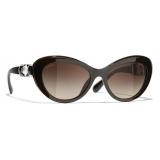 Chanel - Occhiali da Sole Cat-Eye - Marrone - Chanel Eyewear
