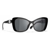 Chanel - Butterfly Sunglasses - Black Gray - Chanel Eyewear