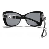 Chanel - Occhiali da Sole a Farfalla - Nero Grigio - Chanel Eyewear