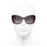 Chanel - Butterfly Sunglasses - Dark Red - Chanel Eyewear