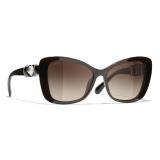 Chanel - Butterfly Sunglasses - Brown - Chanel Eyewear